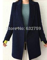 Autumn fashion women's 2014 medium-long woolen fashion slim outerwear overcoat