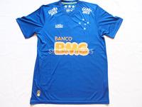 2015 Cruzeiro Camisa  Home Blue Soccer Jersey A+++ Thai Quality Brazilian league Futebol 14 15 Away  Football Shirt FreeShipping