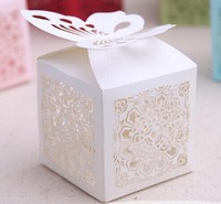 Bride and Groom box,5.5*5*5.5cm Butterfly Candy Gift Boxes With Ribbon Wedding Party Favor Creative Favor Bags Free Shipping