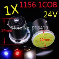2014 New Free shipping 1X 12 LED 1156 COB Chip Car LED Reverse Lights 24V BA15S COB Turn Signals Light P21W Tail Lamps White