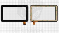 "Touch screen for China-Tablet PC 7"" Tablet, (black, capacitive, 30 pin, (186*111 mm)) #VT5070A37/20130416"