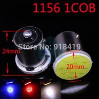 2014 New Free shipping 20X 12 LED 1156 COB Chip Car LED Reverse Lights 24V BA15S COB Turn Signals Light P21W Tail Lamps White