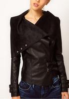 New 2014 Fall Autumn Winter Women Coat Jacket Ebay AliExpress New Women High-end Custom Leather Jacket Women Short Paragraph E99