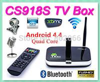 CS918S Andriod 4.4 Smart TV Box Android Quad Core 2GB RAM 16GB Built in 5.0MP Camera XBMC Bluetooth 3G 4K HD