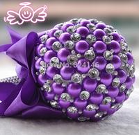 New Gorgeous Purple pearl wedding bouquet bride bouquet bridal  ball-flower accessories valentine's day D187