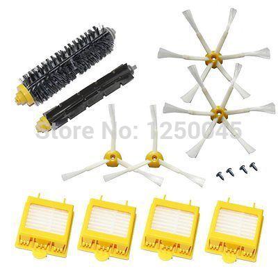Filtro Hepa e escova 3 6 parafusos armados Pack para iRobot Roomba Vacuum Série 700 760 770 780 790 Frete grátis(China (Mainland))