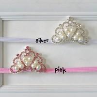 Baby Elastic headband, Tiara headband, Crown headband, baby tiara , Princess headband,10pcs/lot