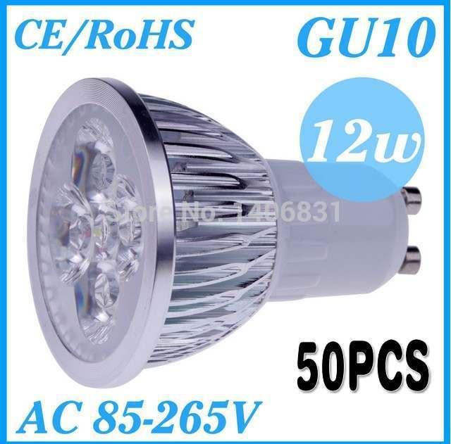 50pcs LED Dimmable GU10 E27 MR16 GU5.3 9W 12W 15W High power LED Bulb Spotlight Downlight Lamp LED Lighting,FREE SHIPPING(China (Mainland))