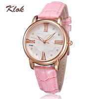 Ladies watches fashions genuine leather straps watches import quartz movement 30m life waterproof wristwatches 6 colors