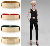 2014 fashion Runway Celebrity Style Women Metal Elastic Mirror face Waist Wide Belt Metallic BELT002