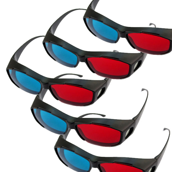 product 2014 Best selling Hot Saels 5x Red/Blue Stereo 3D Glasses Make Eyes See 3D Effect Movie Game I-eat
