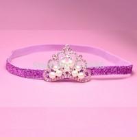 Trial Order Baby Elastic headband, Tiara headband, Crown headband, baby tiara , Princess headband,10pcs/lot
