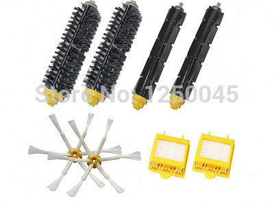 2 x Escova & Filtros e 6 armado kit escova lateral para iRobot Roomba 700 770 760 780 790 Frete grátis(China (Mainland))