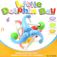 Free shipping CP1205A New Baby Toys Little Dolphin ball / Bell Ball Sound Educational Toys Hot Sale Cheap Wholesale