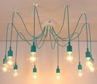 Retro classic chandelier E27 spider lamp pendant bulb holder group Edison diy lighting lamps lanterns accessories messenger wire
