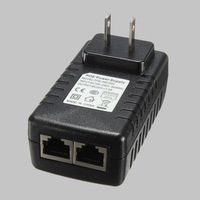 2PCS 24V 1A PoE Injector Power Over Ethernet Adapter Injector Power Supply  For Wireless Access