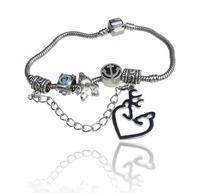 Deer Jewelry 925 Silver BLACK Snake Chain 17.5CM Bracelet Jewelry Browning Deer