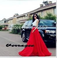 Chiffon long Skirts womens new fashion 2014 summer autumn plus size maxi skirt elastic highwaist super long floor length 9colors