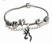 Black Deer Jewelry 925 Silver BLACK Snake Chain 17.5CM Bracelet Jewelry Browning Deer