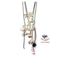 XL38 Heart-shaped accessories wholesale texture letters Multilayer short necklace 2pcs/lot