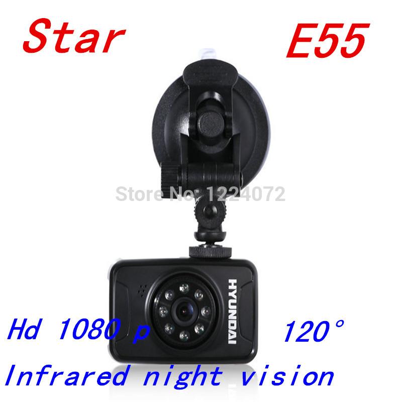 New E55 car DVR, vehicle traveling data recorder hd 1080 p night vision vehicle black box The car camera free shipping(China (Mainland))