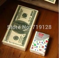 U S D .gift Tissue paper money 1:1 size  towel beautiful wedding napkin 10 60g.