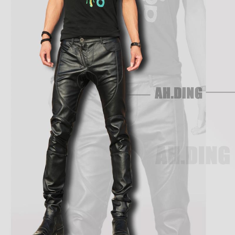 Korean fashion men singer costumes camouflage pants men's fashion Slim brand jeans Harem pants