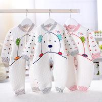 2014 new spring autumn warm cotton baby romper fashion newborn clothing