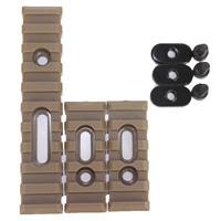3 pcs / Set Tactical  Airsoft  Polymer Picatinny Rail For MOE Handguard  Tan