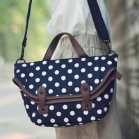 Super lover vintage messenger bag polka dot casual messenger bag handbag