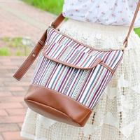 Super lover stripe national trend casual bucket bag messenger bag 205