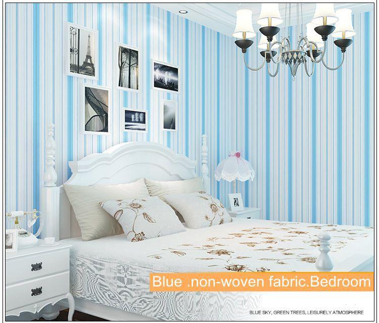 Online kopen wholesale roze behang uit china roze behang groothandel - Slaapkamer blauw meisje ...