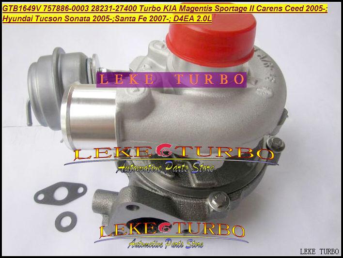 GTB1649V 757886-5003S 28231-27400 Turbocharger HYUNDAI Tucson Sonata 05- Santa Fe; KIA Magentis Sportage Carens Ceed D4EA 2.0L(China (Mainland))