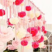 6 inch 15cm 100 pcs/lot  Tissue Paper Pom Poms - Birthday- Nursery Decorations