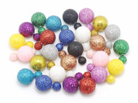 12pair new 2014 new fashion brand big women Christmas earrings Glitter double pearls statement wedding wholesale stud earrings