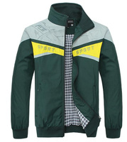 The new men's fashion casual sports jacket mixed colors stand-up collar jacket