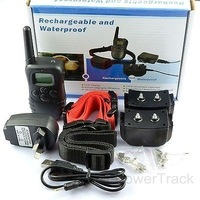 NEW 4In1 Waterproof Rechargeable Pet Remote Controlled 300m Training Collars 2 Dogs From Australia