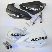 1 pair  Universal MOTORCYCLE MOTOCROSS DIRTBIKE MX ATV HAND GUARDS LED Flash Handguard For honda yamaha kawasaki suzuki sym