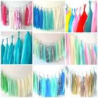 120pcs/lot  46 colors Tissue Tassel Garland - Birthday Banner // Wedding Decoration // Nursery Decor