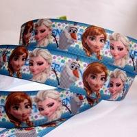 "Wholesale 7/8""22mm Frozen Big Head Pattern Grosgrain Polyester Printed DIY Hairbow Ribbon Package Belt 20 yard Free shipping"
