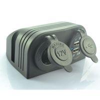 Dual USB Car Cigarette Lighter Socket Charger Power Adapter Outlet Port 12V Boat