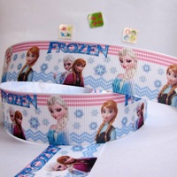 "Wholesale 1""25mm Frozen Warm color Pattern Grosgrain Polyester Printed DIY Hairbow Ribbon Package Belt 20 yard Free shipping"