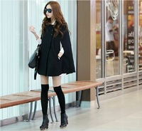 2014 New Designed Women's Popular Woolen Trench Coat Lady Fashion Atmospheric cape coat Winter leisure Style Overcoat Jacket