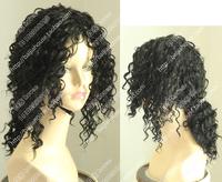 Free shipping cosplay wig Michael Jackson MJ wig Black curls High quality fashion show imitate wigs thread volume