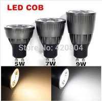 10pcs/Lot  5W 7W 9W COB GU10 E27 E14 MR16 Led Downlight Bulb Lamp AC85-265V Warm/Cool White CE/RoHS Led Lighting Spotlight