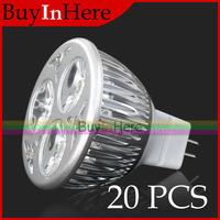 20x Wholesale 6W Mr16 3x2W Energy Saving Power Led Light Warm/Cool White High Down Spotlight Spot Bulb Lamp 110v 220v