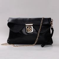 2014 new brand genuine leather women handbag chain shoulder bag fashion small clutch purse messenger bag