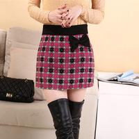 S-XXL New Fashion2014 autumn and winte Womenr embroidered beads  skirt sexy bow shorts NY070