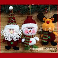 R3 NEW Stuffed Christmas Ornaments Santa Holiday Plush Ornaments Santa Claus Snowman Deer Hangs DROPSHIPPING