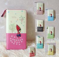 New cute cartoon wallet print women long coin purse card holder clutch purse
